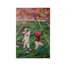 Longest Yard Football Poster Prin Rectangle Magnet