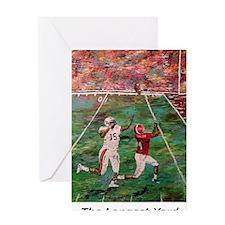 Longest Yard Football Poster Print Greeting Card