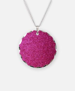 Hot pink faux glitter Necklace