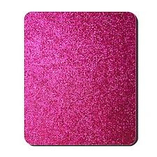 Hot pink faux glitter Mousepad