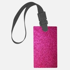 Hot pink faux glitter Luggage Tag