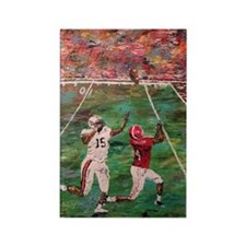 The Longest Yard Football Poster  Rectangle Magnet