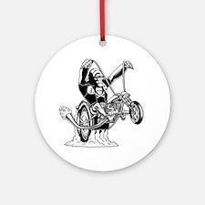 ape-hangin2-DKT Round Ornament