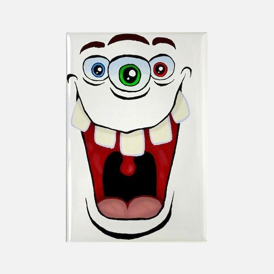 3 Eyed Monster Rectangle Magnet