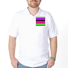 Purple/Pink Green Neon Stripe T-Shirt