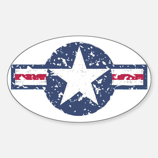 Faded Air Force Logo Sticker (Oval)