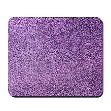 Purple faux glitter Mousepad