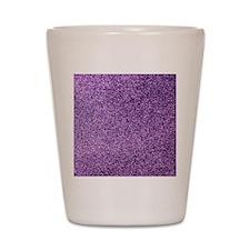 Purple faux glitter Shot Glass