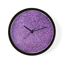 Purple faux glitter Wall Clock