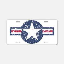 Air force roundel blue Aluminum License Plate