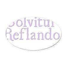 Solvitur Reflando - dark Oval Car Magnet