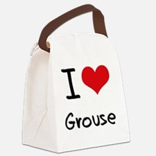 I Love Grouse Canvas Lunch Bag