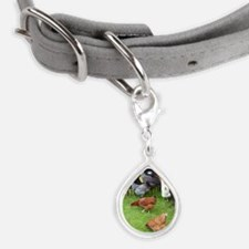 Hen Small Teardrop Pet Tag