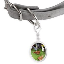 Hen Small Oval Pet Tag