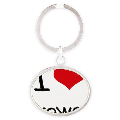 I Love Grower Oval Keychain