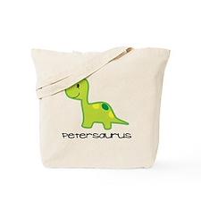 Personalized Toddler Dinosaur Shirt Tote Bag