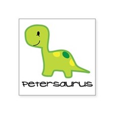 """Personalized Toddler Dinosa Square Sticker 3"""" x 3"""""""