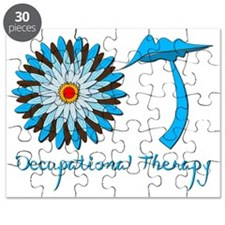 Flower Power OT Blue and Brown Puzzle