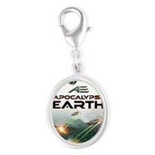 AE Poster Silver Oval Charm