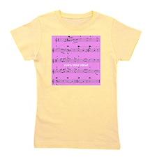 Retired Music Teacher All over PINK Girl's Tee
