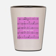 Retired Music Teacher All over PINK Shot Glass