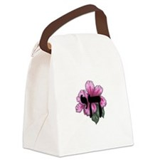 Pink Chai Hibiscus Canvas Lunch Bag