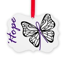 Hope Butterfly Picture Ornament