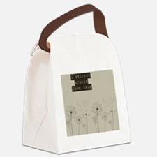 Believe in Wishes Dandelions Canvas Lunch Bag