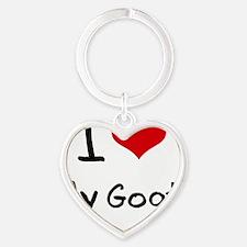 I Love My Goat Heart Keychain