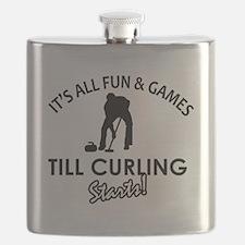 curling gift designs Flask