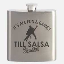 Salsa vector designs Flask