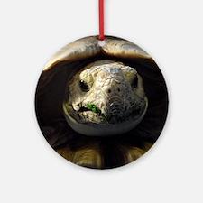 Sulcata Tortoise Round Ornament