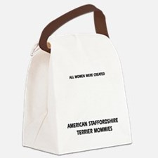 American Staffordshire Terrier mo Canvas Lunch Bag