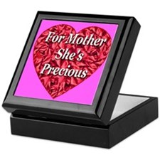 For Mother She's Precious Keepsake Box