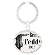Ready for Teddy 1912 Oval Keychain