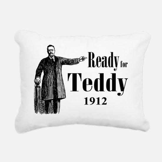 Ready for Teddy 1912 Rectangular Canvas Pillow
