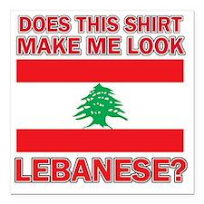 "Lebanese flag designs Square Car Magnet 3"" x 3"""