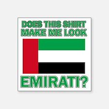 "UAE designs Square Sticker 3"" x 3"""
