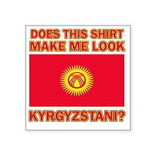 "Kyrgyzstan designs Square Sticker 3"" x 3"""