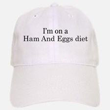 Ham And Eggs diet Baseball Baseball Cap