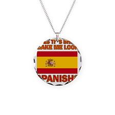 Spanish flag design Necklace Circle Charm