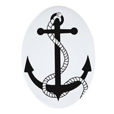 anker anchor harbour hafen ship schi Oval Ornament