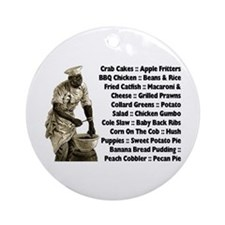 Soul Food Menu Ornament (Round)