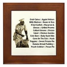 Soul Food Menu Framed Tile