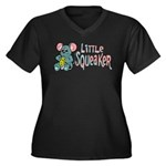 Little Squeaker Women's Plus Size V-Neck Dark T-Sh