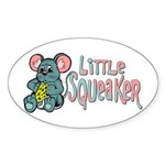 Little Squeaker Oval Sticker