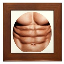 Show My Abs Framed Tile