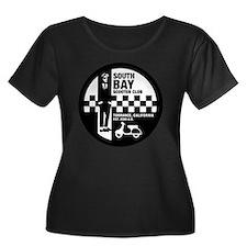SBSC Ska Women's Plus Size Dark Scoop Neck T-Shirt