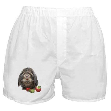 Bunny and strawberries Boxer Shorts