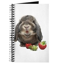 Bunny and strawberries Journal